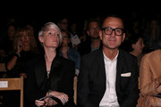 Editor-in-Chief Maxim Kate Lanphear (L) and CEO of the CFDA Steven Kolb attend Tommy Hilfiger Women's Spring 2016 during New York Fashion Week: The Shows at Pier 36 on September 14, 2015 in New York City.