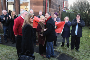 Gail Sheridan Tommy Sheridan Returns Home After Being Released From Prison