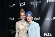 Toni Garrn and Patrick Finnegan attend Toni Garrn Foundation Supermodel Flea Market 2019 Launch Party at The Blond on September 11, 2019 in New York City.