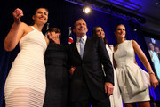 Australian Prime Minister-elect, Tony Abbott and family, his wife Margie Abbott, and daughters Louise, Bridget and Frances celebrate on stage after Tony Abbott claimed victory in the 2013 Australian Election on September 7, 2013 in Sydney, Australia. Liberal-National Coalition leader Tony Abbott was elected Prime Minister in a landslide victory over Labor leader Kevin Rudd, bringing the conservative party to power for the first time in six years.