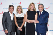 Honoree, President, COO and CFO, of iHeartMedia, Inc. Richard Bressler, Lisa Gersh, Susan Benedetto and Tony Bennett attend the 11th Annual Exploring The Arts Gala 2018 at The Ziegfeld Ballroom on January 30, 2018 in New York City.