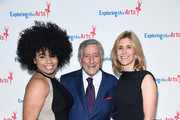 We McDonald, Tony Bennett and Susan Benedetto attend the 11th Annual Exploring The Arts Gala 2018 at The Ziegfeld Ballroom on January 30, 2018 in New York City.