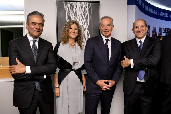 Annual Charity Day Hosted By Cantor Fitzgerald, BGC, And GFI - Cantor Fitzgerald Office - Inside [event,white-collar worker,suit,team,businessperson,management,business,company,collaboration,tourism,cantor fitzgerald,bgc,gfi,office - inside,l-r,charity day,edie lutnik,howard lutnik,anshu jain,tony blair]