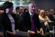 Former British Prime Minister Tony Blair waits to deliver a keynote speech at a pro-EU event on February 17, 2017 in London, England. Mr Blair claimed that people voted in the referendum without knowledge of the true terms of Brexit and urged people to change their minds and rise up against Brexit.