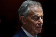 Former British Prime Minister Tony Blair pauses as he addresses the media after attending the European People's Party (EPP) Group Bureau meeting at Druids Glen on May 12, 2017 in Wicklow, Ireland. Brexit and negotiating objectives will top the agenda at the meeting alongside the unique circumstances regarding the hard border issue between northern and southern Ireland, the only physical border between the United Kingdom and Europe. Mr Blair has signaled a return to politics in light of the Brexit vote. The meeting also features European Commission Brexit chief negotiator Michel Barnier.