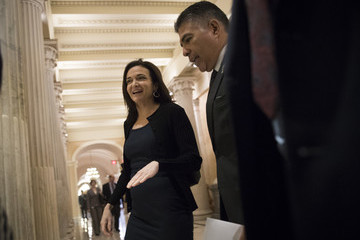 Tony Cardenas Facebook COO Cheryl Sandberg Speaks With Lawmakers on Capitol About Russian Ads on Her Facebook's Platform