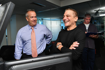 Tony Danza Annual Charity Day Hosted By Cantor Fitzgerald, BGC and GFI - Cantor Fitzgerald Office - Inside