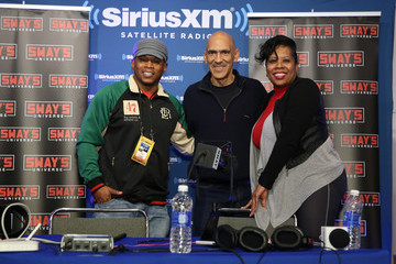 Tony Dungy SiriusXM at Super Bowl 50 Radio Row - Day 2