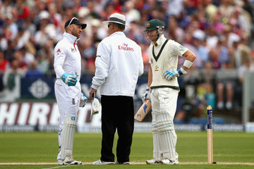Tony Hill England v Australia: 4th Investec Ashes Test - Day Two
