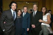 Adam Driver, Robin Dearden, Bryan Cranston, Jeff Daniels, and Kathleen Rosemary Treado attend the Tony Honors Cocktail Party Presenting The 2019 Tony Honors For Excellence In The Theatre And Honoring The 2019 Special Award Recipients at Sofitel Hotel on June 03, 2019 in New York City.