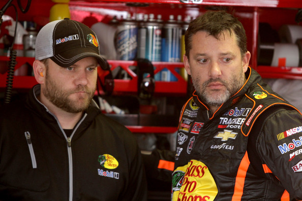 Chad Johnston and Tony Stewart