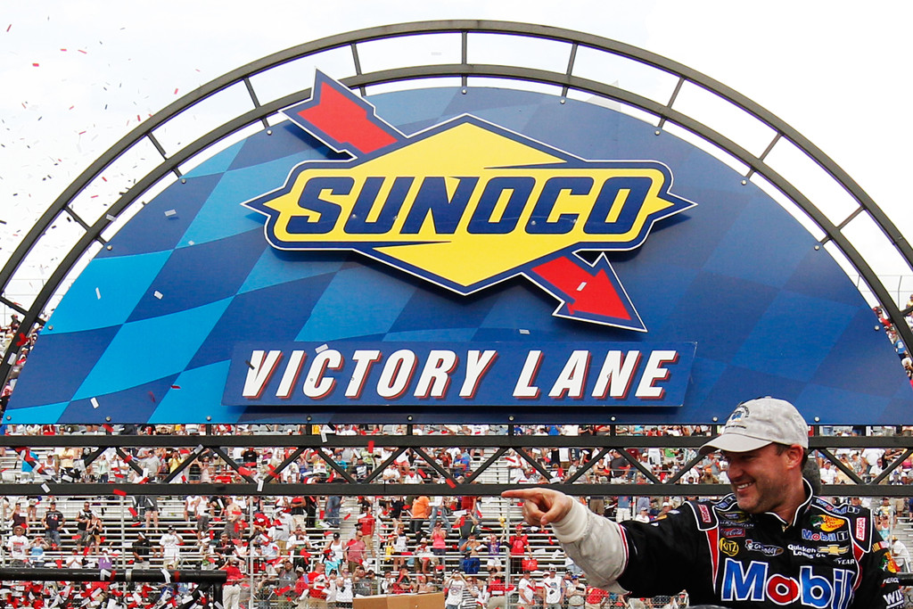 Tony Stewart in Victory Lane