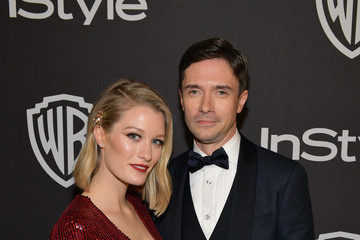 Topher Grace Ashley Hinshaw The 2019 InStyle And Warner Bros. 76th Annual Golden Globe Awards Post-Party - Red Carpet