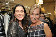 Jessica Rhoades (L) and Marti Noxon attend an intimate dinner for Amy Adams and Patricia Clarkson hosted by Tory Burch and Clase Azul at Tory Burch on January 4, 2019 in Beverly Hills, California.