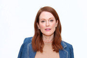 Julianne Moore attends the Tory Burch Fall Winter 2020 Fashion Show at Sotheby's on February 09, 2020 in New York City.