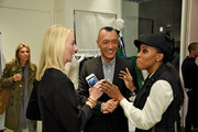 """Linda Wells, Joe Zee and June Ambrose attend the launch for """"That's What Fashion Is"""" by Joe Zee hosted by Tory Burch and Joe Zee at Tory Sport on October 13, 2015 in New York City."""