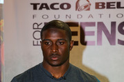 Detroit Lions running back Reggie Bush attends the Touchdown For Teens Campaign at Taco Bell on August 26, 2014 in Royal Oak, Michigan.