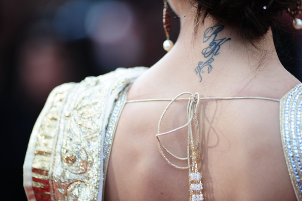 Actress Deepika Padukone (detail) attends the 'On Tour' Premiere at the Palais des Festivals during the 63rd Annual Cannes Film Festival on May 13, 2010 in Cannes, France.
