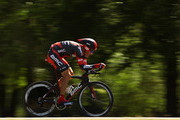 George Hincapie riding for BMC Racing Team competes in the individual time trial during stage five of the Amgen Tour of California on May 17, 2012 in Bakersfield, California.