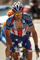 George Hincapie of the USA and riding for BMC Racing rides in the breakaway as he won the most courageous rider award during Stage Six of the 2010 Tour of California from Palmdale to Big Bear on May 21, 2010 in San Bernardino County, California.