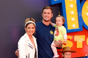 """Jacqueline Jossa (L) and Dan Osborne attend the """"Toy Story 4"""" European Premiere at Odeon Luxe Leicester Square on June 16, 2019 in London, England."""