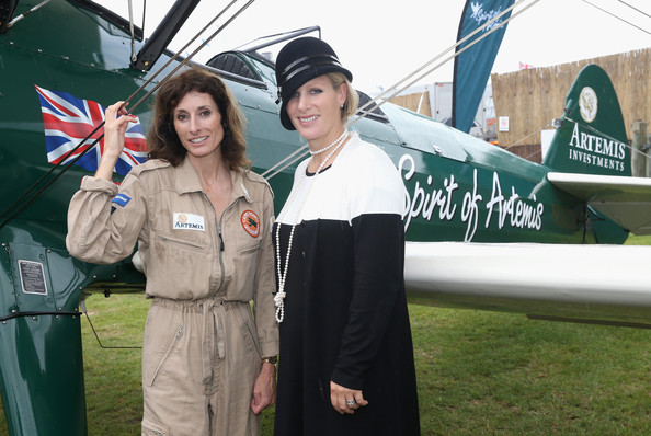 Tracey Curtis-Taylor Zara Phillips and pilot Tracey Curtis-Taylor pose next to the 'Spirit of Artemis' at Goodwood Revival Festival on September 13, 2013 in Chichester, England. On November 1st Tracey Curtis-Taylor will begin to fly the Boeing Steerman plane 7000 miles from Cape Town in South Africa to Goodwood in the UK recreating the pioneering journey of Lady Mary Heath in 1928.