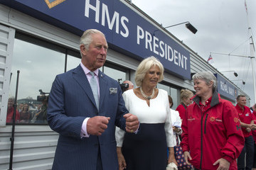 Tracy Edwards The Prince Of Wales And Duchess Of Cornwall Visit The 'Maiden' Yacht