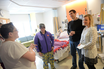 Tracy Stevens Brad and Tracy Stevens Visit Boston Children's Hospital