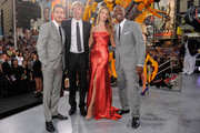 "(L-R) Shia LaBeouf, Michael Bay, Rosie Huntington-Whiteley and Tyrese Gibson attend the New York premiere of ""Transformers: Dark Side Of The Moon"" in Times Square on June 28, 2011 in New York City."