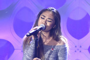 Jessica Sanchez performs at What's Trending's Fourth Annual Tubeathon Benefitting American Red Cross on April 20, 2016 in Burbank, California.