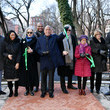 Trevor Holland Disney+ And NYC Department Of Parks Install Plaque That Honors Bronze Statue Of The Husky Named Togo In Seward Park