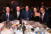 (L-R) Producer Richie Jackson, President of Jujamcyn Theatres Jordan Roth, designer Zac Posen, actress Lucy Liu and Co-Chair of The Trevor Foundation James Adams attend the Trevor Project's 2014 'TrevorLIVE NY' Event at the Marriott Marquis Hotel on June 16, 2014 in New York City.