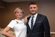 Actors Martha Plimpton (L) and Jay R. Ferguson attend The Trevor Project's 2016 TrevorLIVE LA at The Beverly Hilton Hotel on December 4, 2016 in Beverly Hills, California.