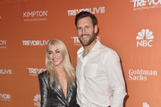 Julianne Hough (L) and Brooks Laich attend The Trevor Project's 2017 TrevorLIVE LA on December 3, 2017 in Beverly Hills, California.