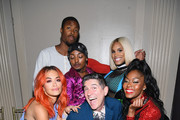 (front L-R) Rita Ora, James Lecesne, Lolita Balengiaga, (middle L-R) Alex Mugler, Tati 007, (back) and Jelani Mizrahi attend The Trevor Project TrevorLIVE NYC at Cipriani Wall Street on June 11, 2018 in New York City.