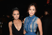 Actress Kat Graham and Nina Dobrev attend 'TrevorLIVE LA' honoring Jane Lynch and Toyota for the Trevor Project at Hollywood Palladium on December 8, 2013 in Hollywood, California.