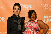 Hosts Eugene Lee Yang and Nicole Byer attend TrevorLIVE NY 2019 at Cipriani Wall Street on June 17, 2019 in New York City.