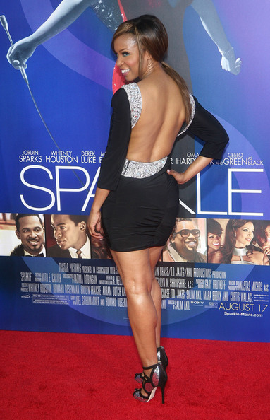 "Actress Elise Neal arrives at the Los Angeles Premiere of ""Sparkle"" at Grauman's Chinese Theatre on August 16, 2012 in Hollywood, California."