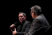 """Actor, writer and director Ed Burns (L) and columnist Mike Vaccaro take part in Tribeca Talks: Storytellers following the Tribeca Film Festival premiere of """"Summertime"""" during the 2018 Tribeca Film Festival at BMCC Tribeca PAC on April 27, 2018 in New York City."""