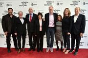 Carolyn Bernstein, Brian Peterson, Richard Preston, Lt. Col. Jerry Jaax, Lt. Col. Nancy Jaax, Noah Emmerich, Lynda Obst, Kelly Souders, and Doron Weber attend Tribeca TV: The Hot Zone during the 2019 Tribeca Film Festival at SVA Theater on April 30, 2019 in New York City.