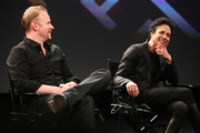 (L-R) Filmmakers Morgan Spurlock and Shola Lynch attend the Tribeca Talks: The Business of Entertainment: Truth, Persuasion And Bias In Documentaries event at the 2013 Tribeca Film Festival on April 22, 2013 in New York City.