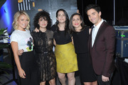NEW YORK, NY during the APRIL 17:  (L-R) Actor Kelly Ripa, Ilana Glazer, Abbi Jacobson, Lucia Aniello and Paul W. Downs attend the Tribeca Tune In: Broad City during the 2016 Tribeca Film Festival at Spring Studios on April 17, 2016 in New York City.