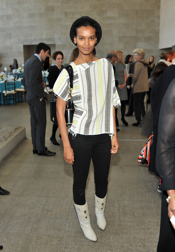 Model/actress Liya Kebede attends the Tribute To The Models Of Versailles 1973 at The Metropolitan Museum Of Art on January 24, 2011 in New York City.
