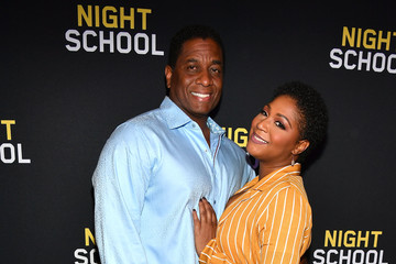 Trina Braxton 'Night School' Red Carpet Screening With Kevin Hart And Will Packer At Regal Atlantic Station