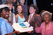 (L-R) Adepero Oduye, Cuba Gooding Jr., Vanessa Williams, Tom Wopat, Cicely Tyson and cast attend 'The Trip To Bountiful' 100th Performance Celebration at Stephen Sondheim Theatre on July 23, 2013 in New York City.
