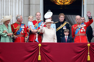 Prince George Wears the Same Outfit as Dad for His Buckingham Palace Balcony Debut