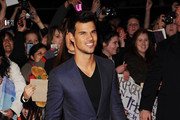 Taylor Lautner attends the UK Premiere of 'The Twilight Saga: Breaking Dawn - Part 2' at Odeon Leicester Square on November 14, 2012 in London, England.