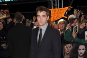 Actor Robert Pattinson attends the UK Premiere of 'The Twilight Saga: Breaking Dawn - Part 2' at Odeon Leicester Square on November 14, 2012 in London, England.