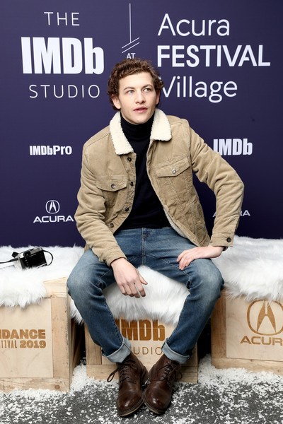 The IMDb Studio At Acura Festival Village On Location At The 2019 Sundance Film Festival – Day 4 [the mountain,fashion,brown,footwear,cool,jeans,denim,outerwear,album cover,shoe,photography,tye sheridan,location,acura festival village,utah,park city,imdb studio at acura festival village on location,imdb studio,sundance film festival]