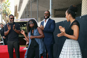 (L-R) Idris Elba, Crystal Fox, Tyler Perry  and Kerry Washington attend Tyler Perry being honored with a Star on the Hollywood Walk of Fame on October 01, 2019 in Hollywood, California.